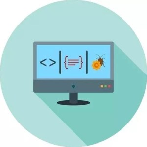 web testing represented by cartoon computer