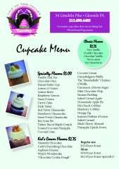 Cupcakery Menu