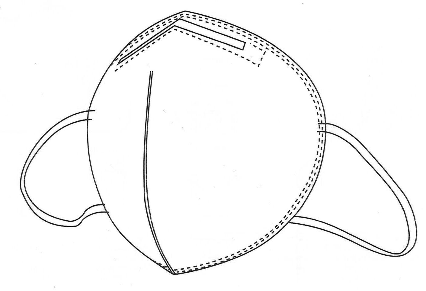 Kn95 Ffp2 Unvalved Face Mask Pack Of 10