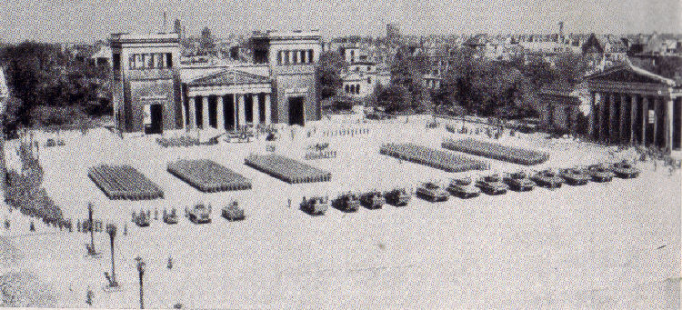 45th Infantry Division Memorial Day Services, May 30, 1945 Konigsplatz, Munich, Germany