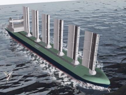 Modern sail assisted ship