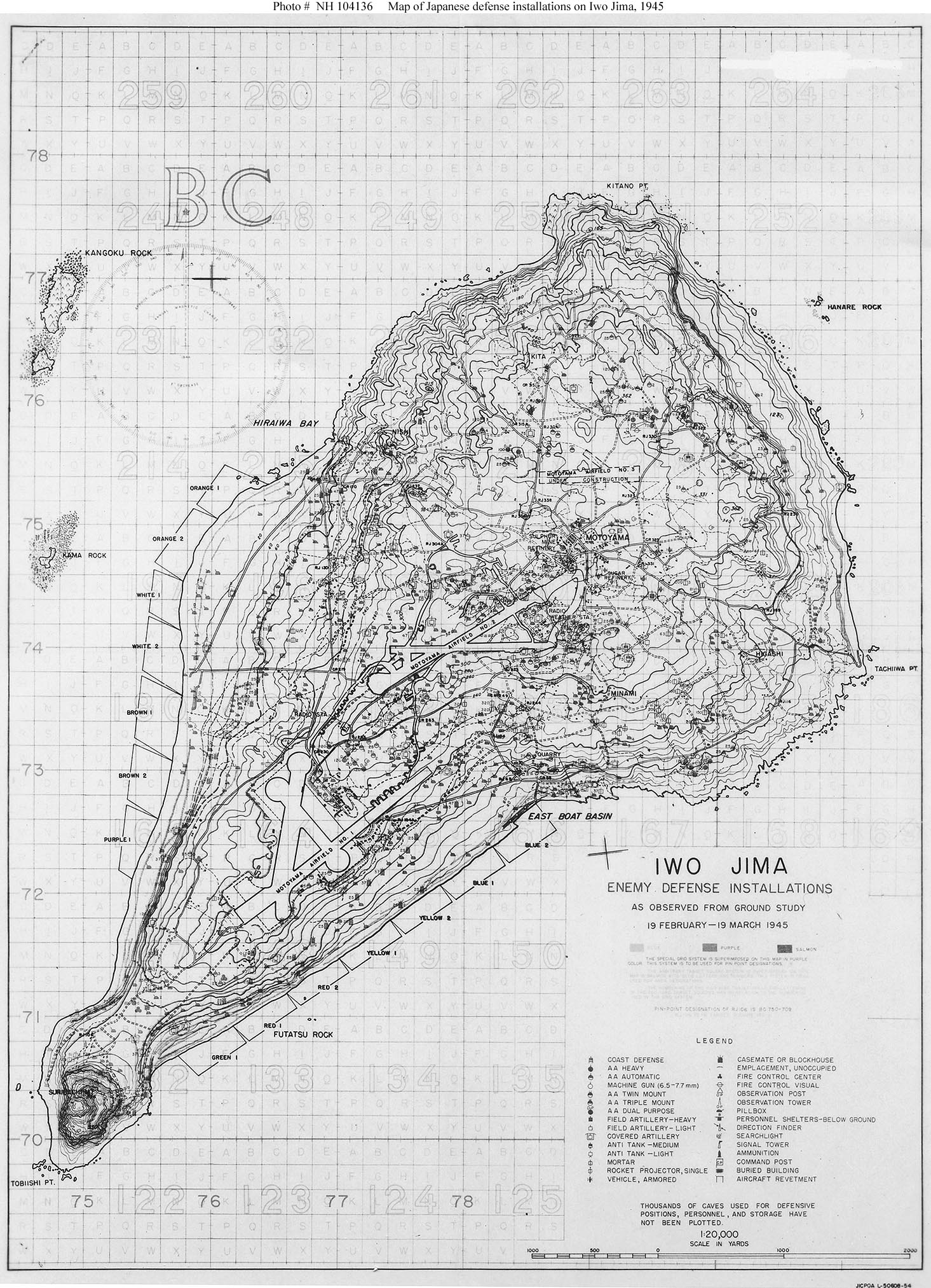 Iwo Jima Operation Maps And Wide Area Aerial Views Of