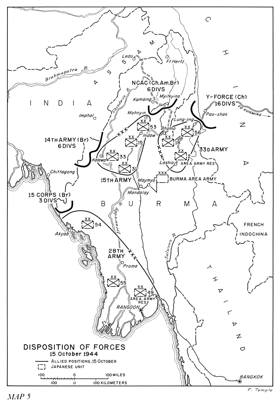 Disposition of forces 15 october 1944
