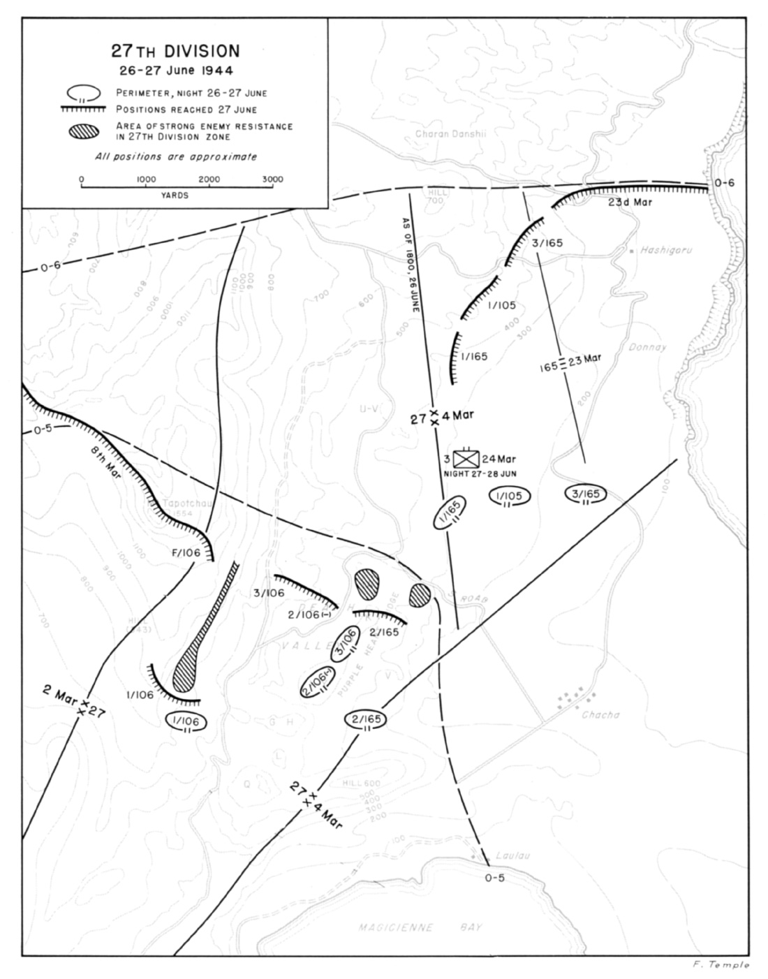 27th division 26 27 june 1944