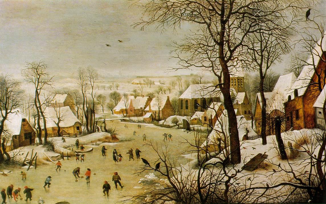 """""""Paysage d'hiver avec un piège à oiseaux"""" - Breugel"""