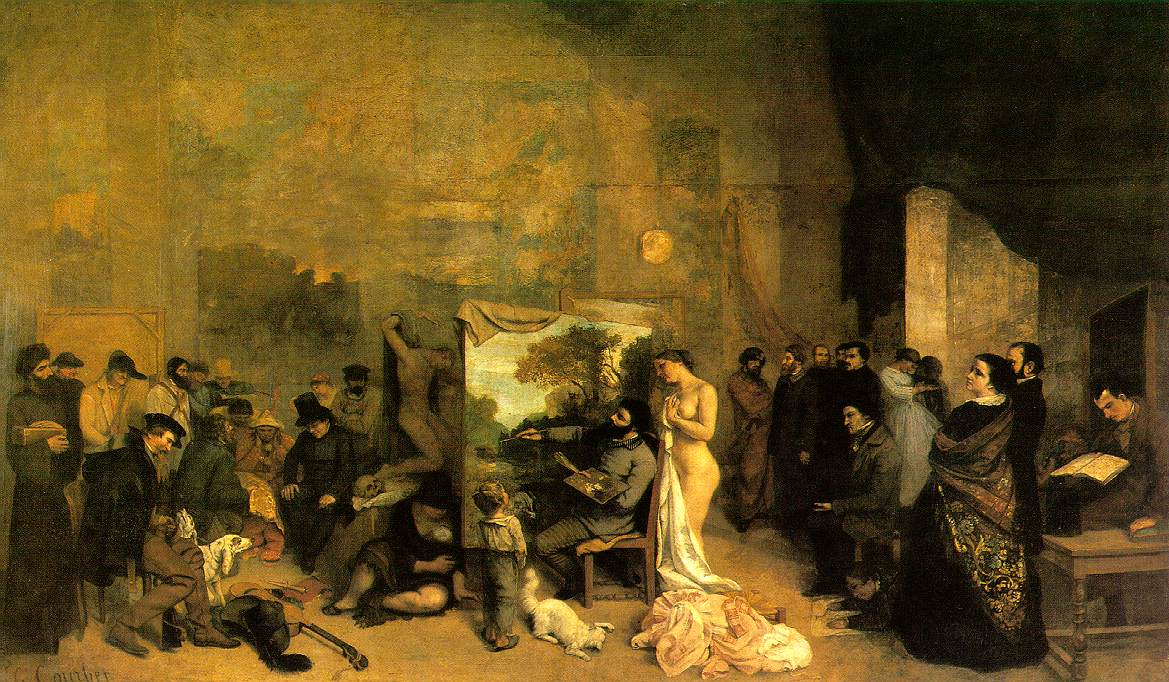 Courbet Gustave The Painters Studio A Real Allegory
