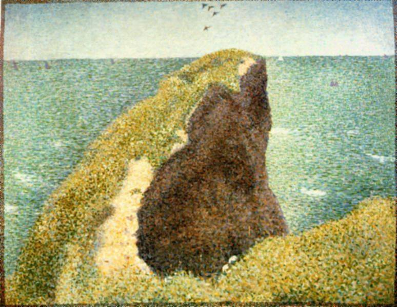 Le Bec du Hoc, Grandcamp, Georges Seurat
