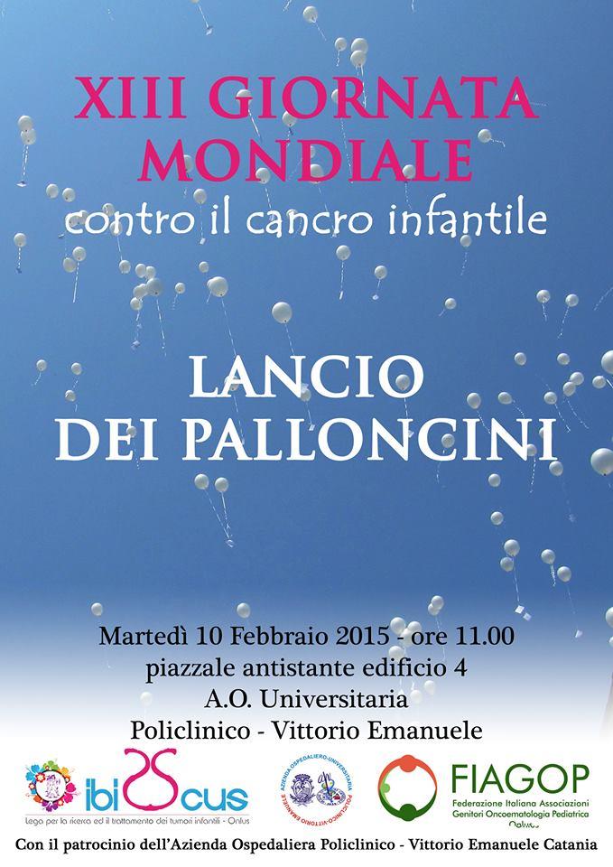 XIII Giornata Mondiale contro il Cancro Infantile