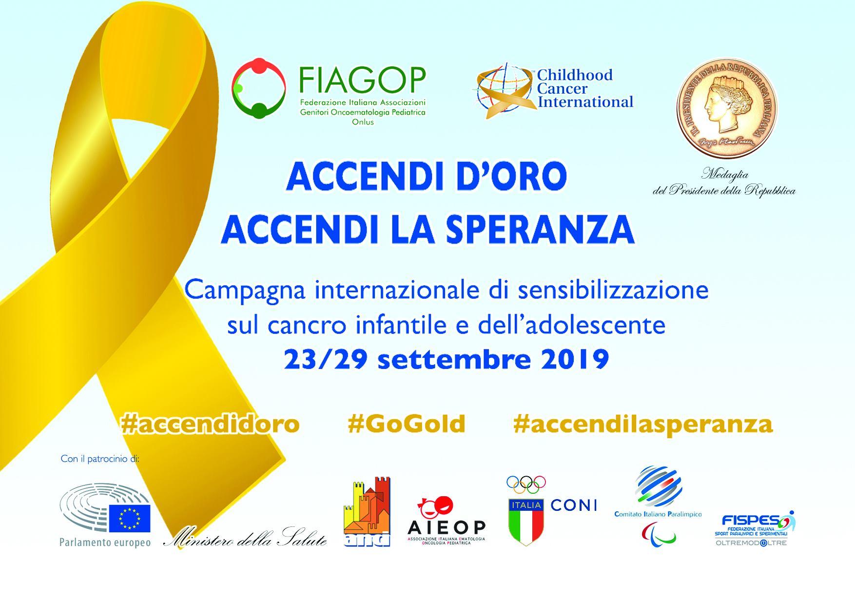 ACCENDI D'ORO, ACCENDI LA SPERANZA 23-29 SETTEMBRE 2019