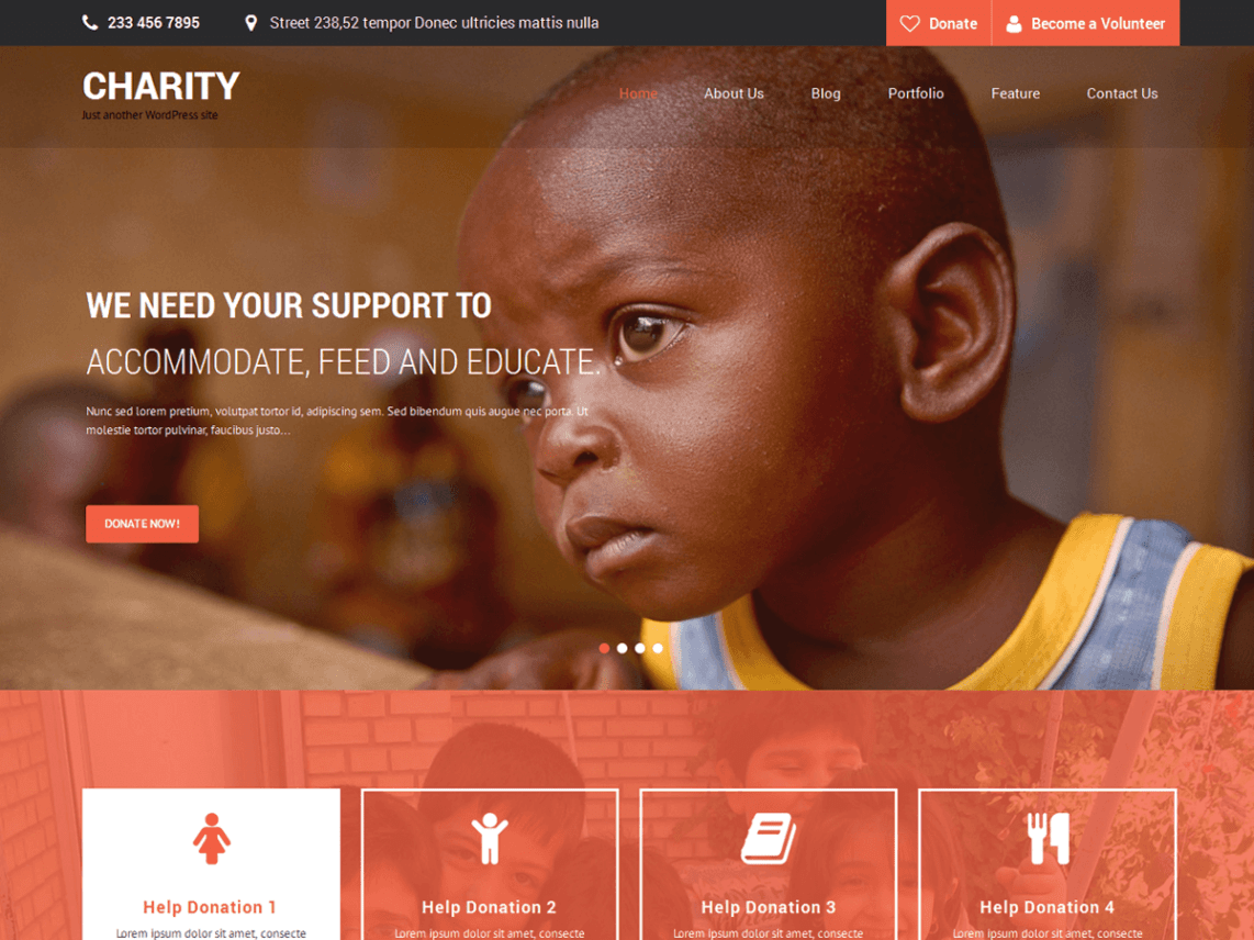 SKT - Charity WordPress Theme 1