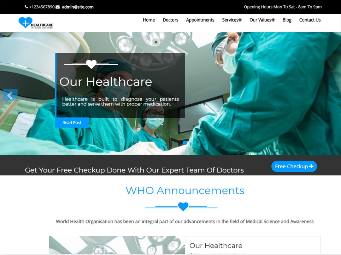 Healthcare - Perfect Solution for any Medical Website 1
