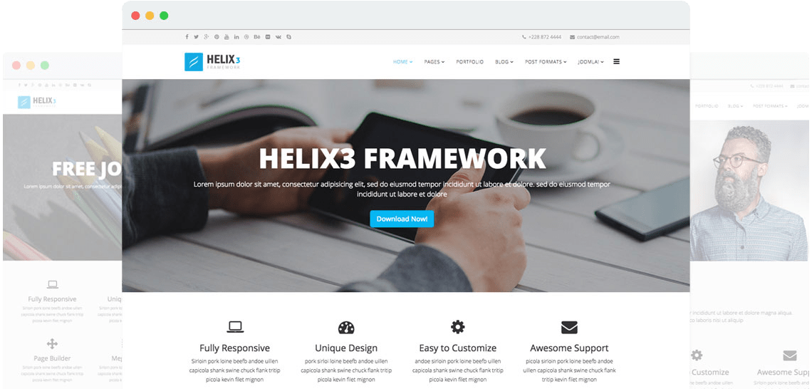 Helix3 - Template Framework for Joomla 4