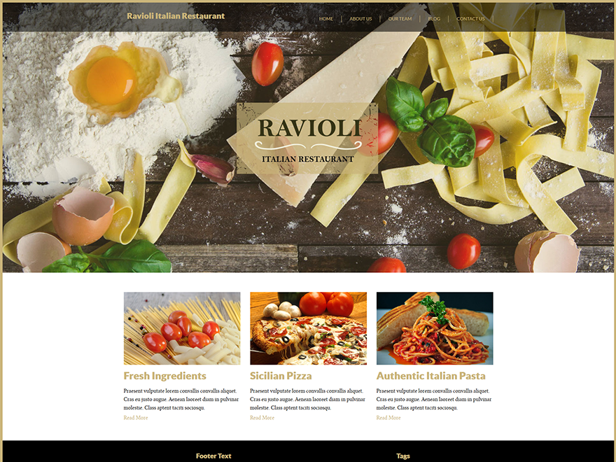 Italian Restaurant - multipurpose restaurant WordPress theme 3