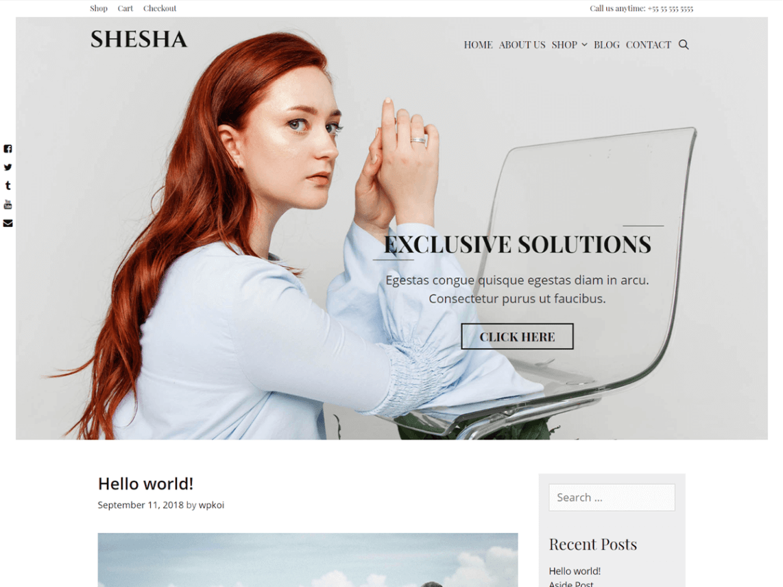 Shesha - Free WordPress Theme 8