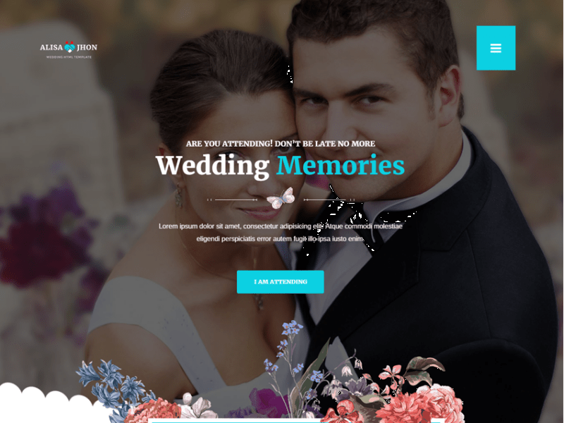 Wedding – Responsive Theme