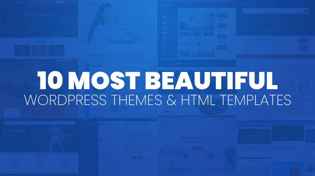 10 Most Beautiful WordPress Themes and HTML Templates