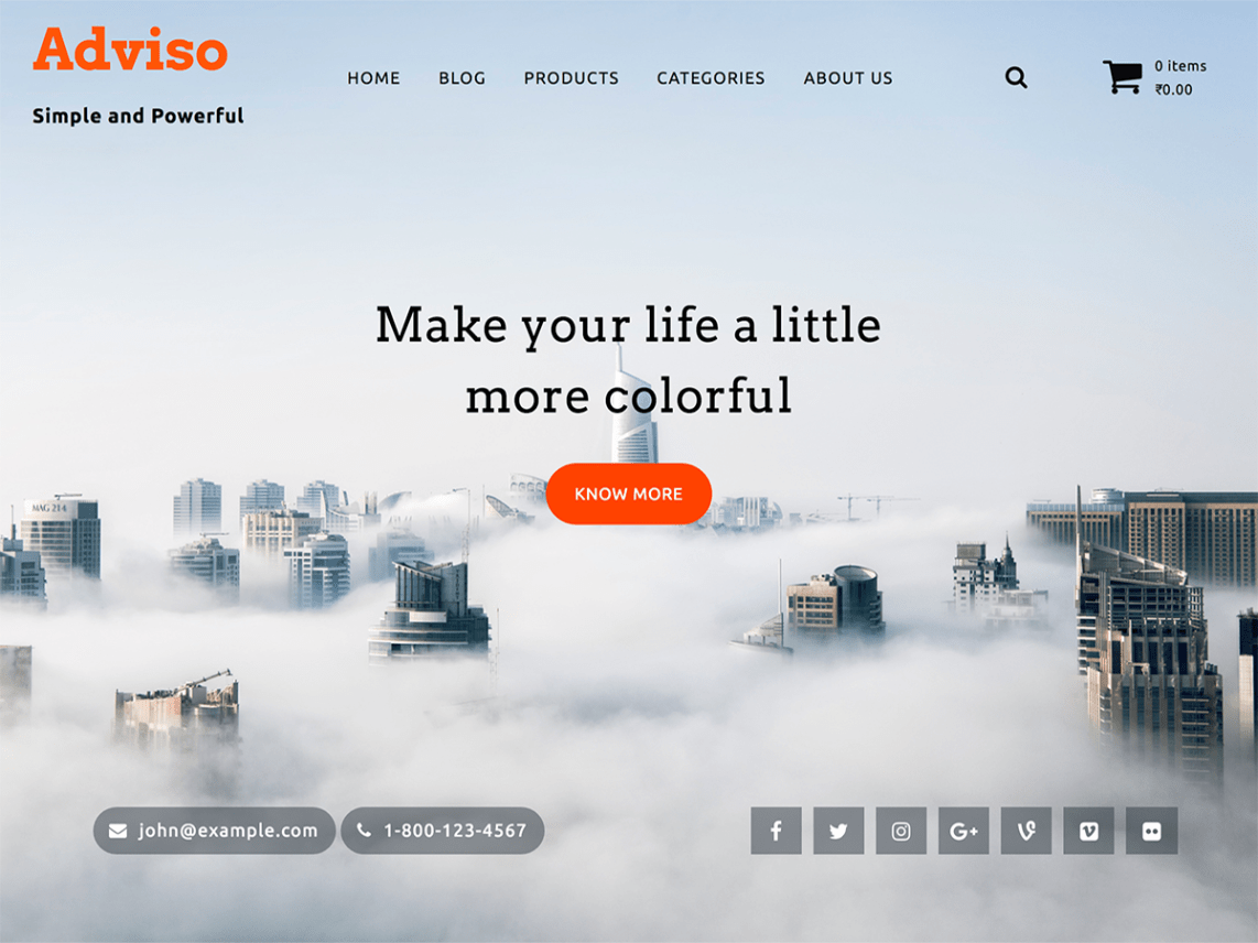 Adviso - Beautiful Material WordPress Theme 1
