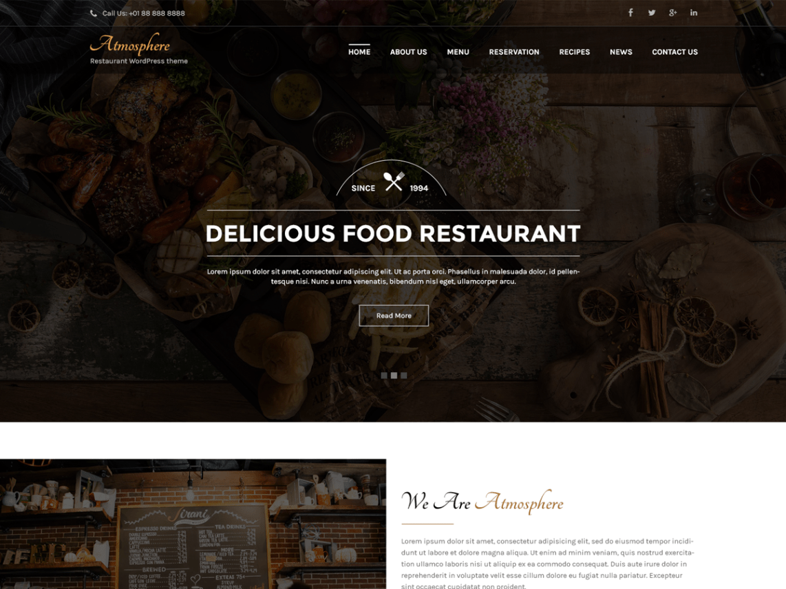 Atmosphere Lite - Responsive Restaurant WordPress Theme 5