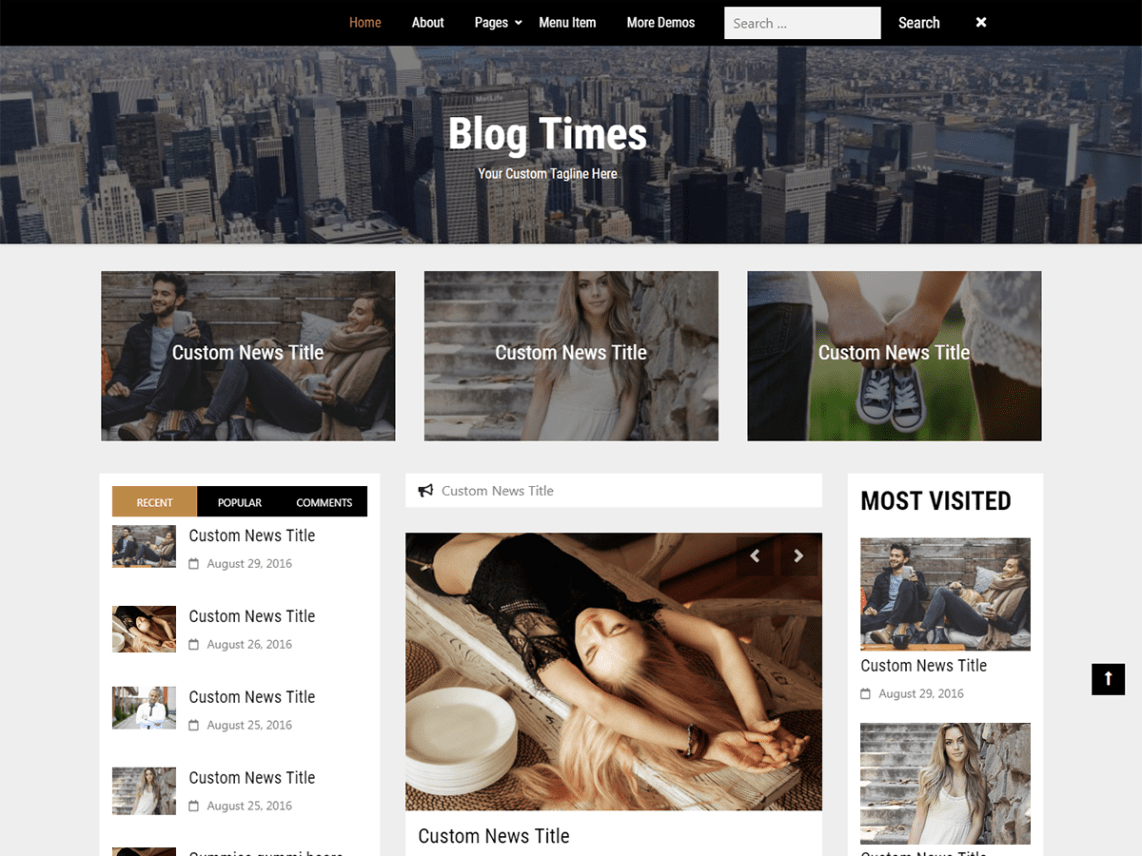 Blog Times WordPress Theme