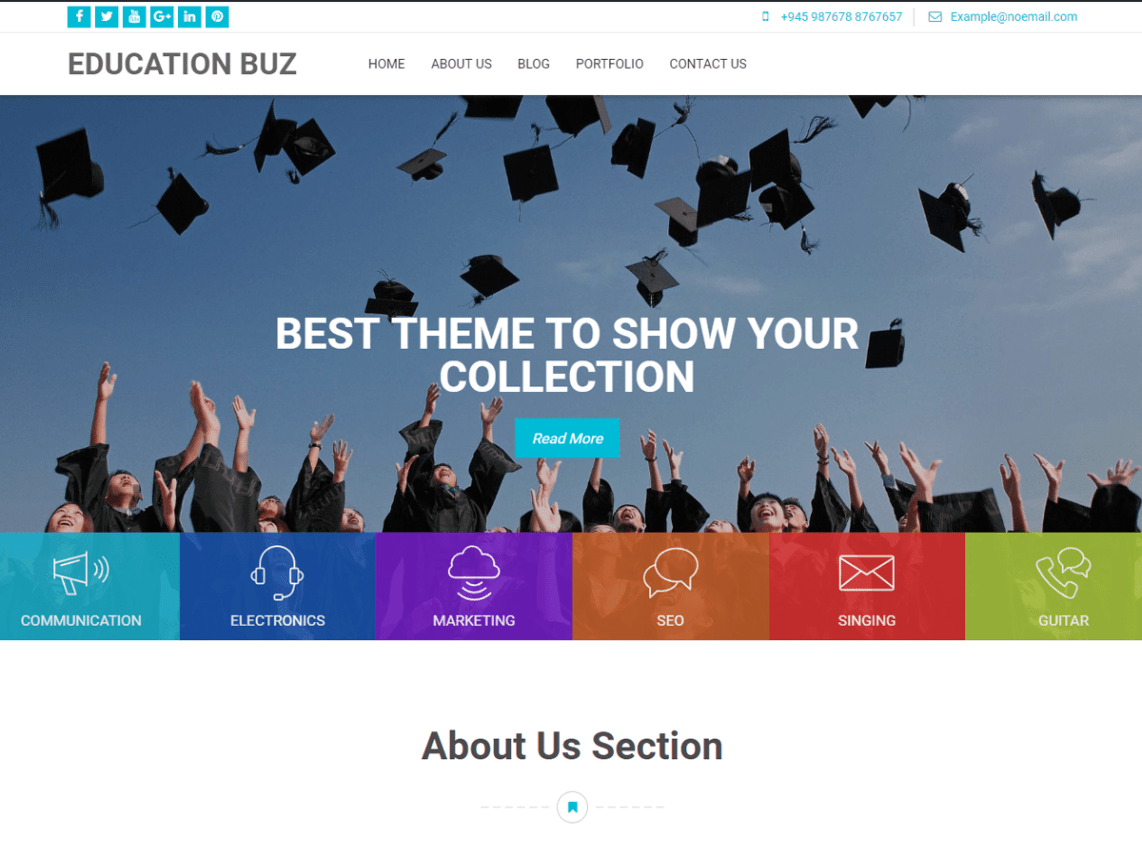Education Buz - WordPress Theme for Education 7