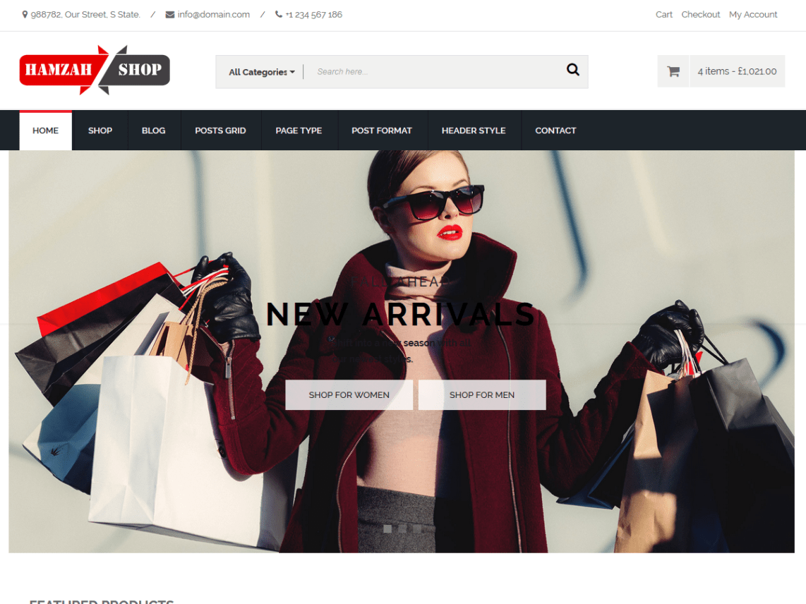 Hamzah Shop - Modern E-Commerce WordPress Theme 3