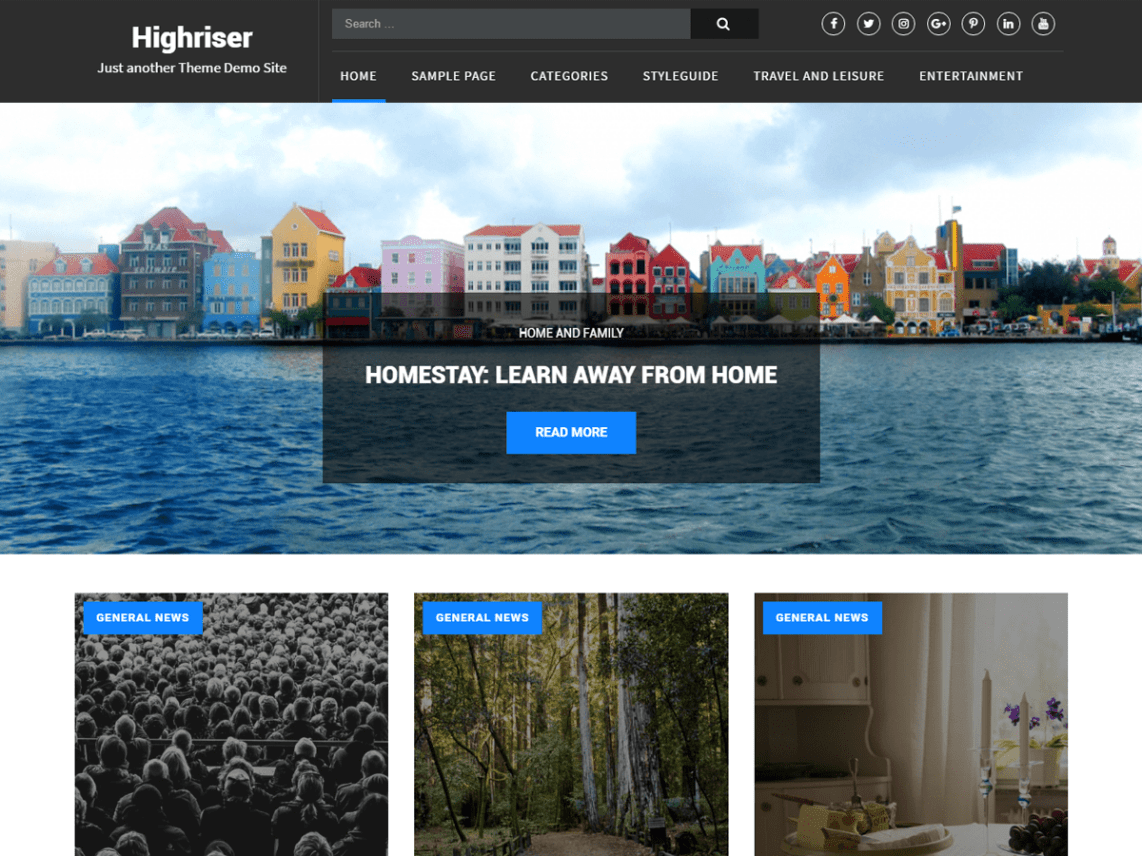 Highriser - Free WordPress Theme for Writers 9