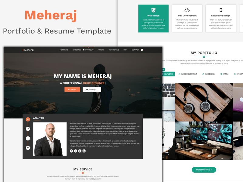 Meheraj - Creative Personal Portfolio Template 2