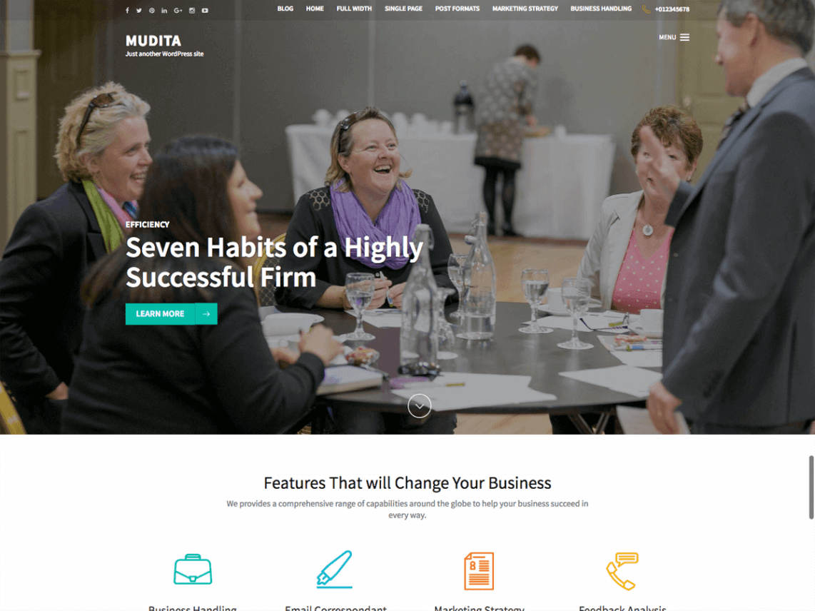 Mudita – Corporate Business WordPress Theme