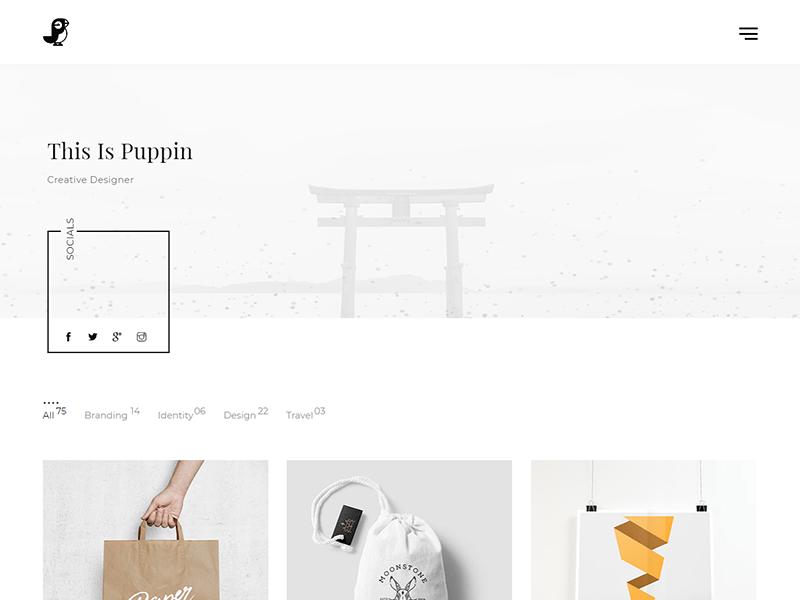 Puppin HTML5 Portfolio Template