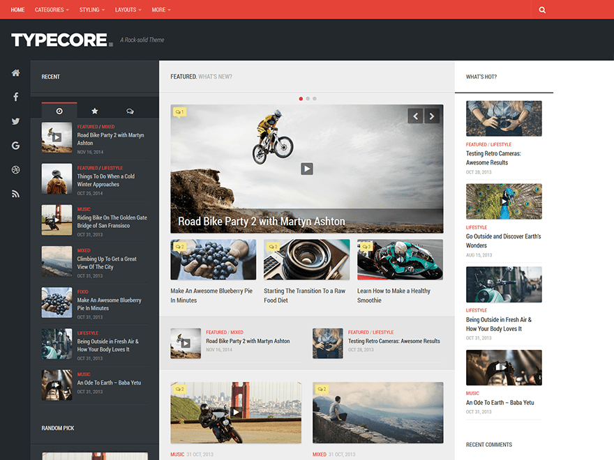 Typecore - WordPress Theme For Blogs And Magazines