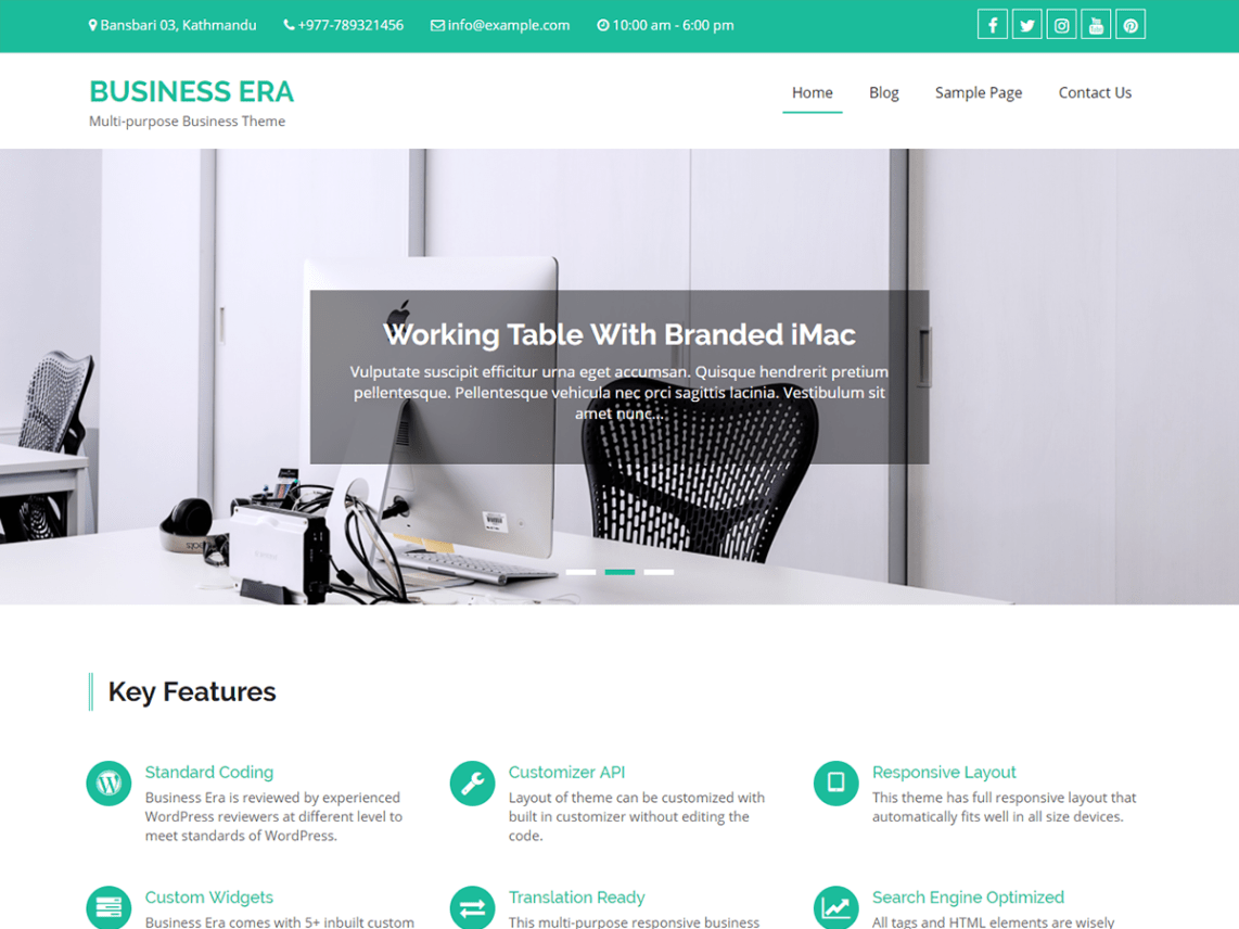 Business Era - Business WordPress Theme