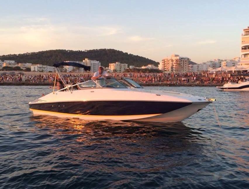 Ibiza boat hire Luxury Bowrider sports boat