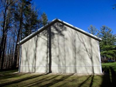 Dan-Harbert,MI 36x56x14 Charcoal roof and Light Stone sides.
