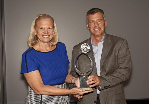 IBM Chairman, President and CEO Ginni Rometty presents the 2013 IBM Chairman's Environmental Award