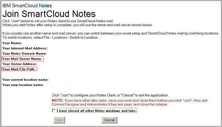 Mail settings in config.nsf file