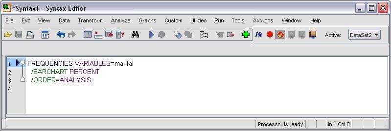 محرر بناء الجمل البرمجية يعرض بناء الجملة التي تم لصقها - لصق جملة برمجية