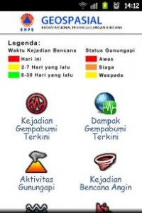 Tampilan Aplikasi Pantauan Bencana Indonesia