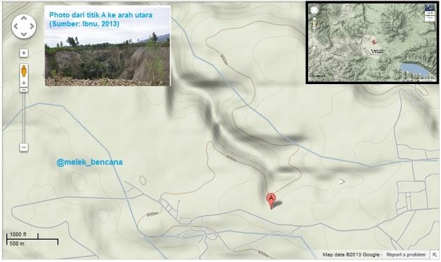 Peta Topografi Kawasan Tanah Longsor