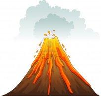 kartun gunung api