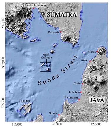 letak Anak Krakatau