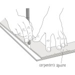 Figure 19 - Carpenters Square Cutting the Bookbinding Excess