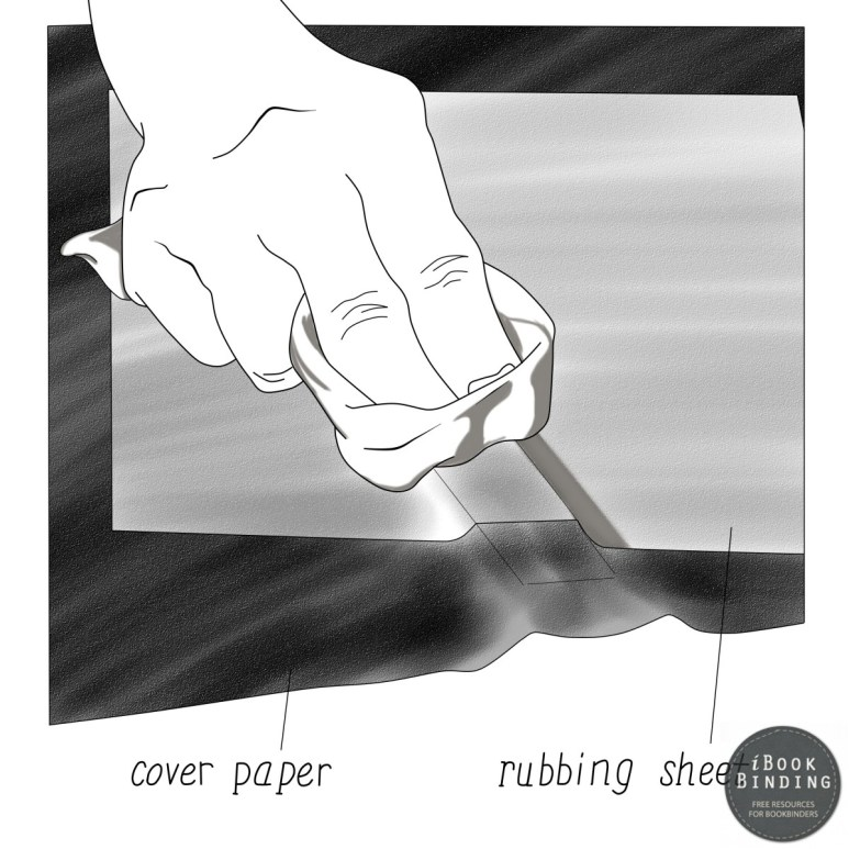 Figure 78 - Using a Rubbing Sheet to Affix Cover Material