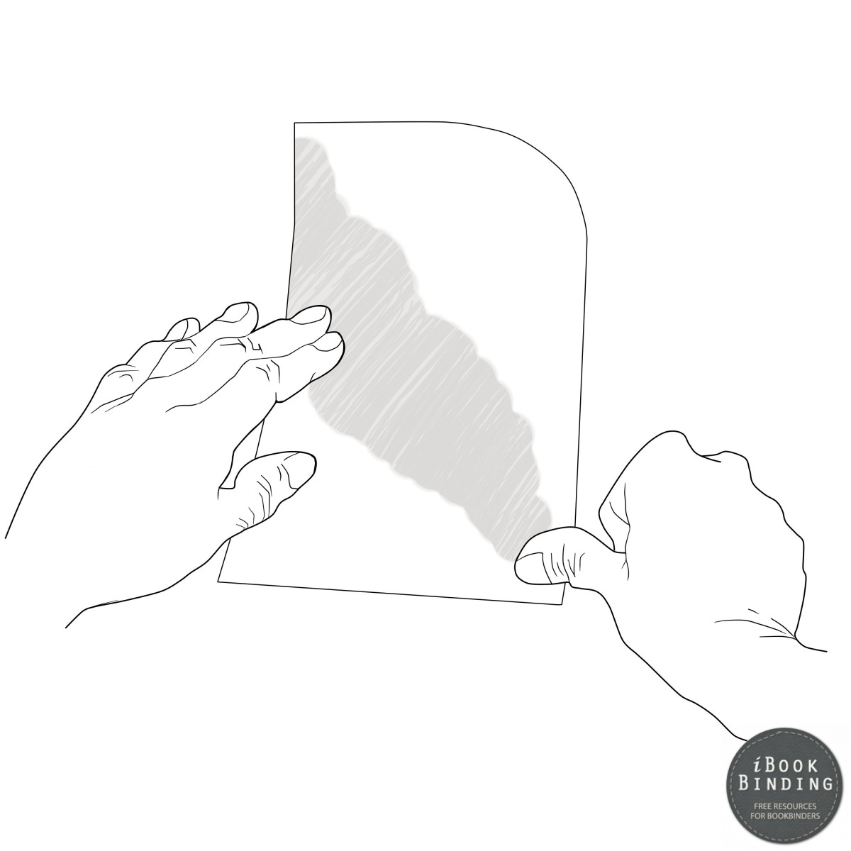 Figure 28 - Lighting Folding the Paper with your Thumb