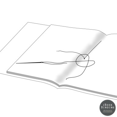 Figure 130 - Sewing Signatures and Dust Jacket Together, Step 5 - Bookbinding Tutorial