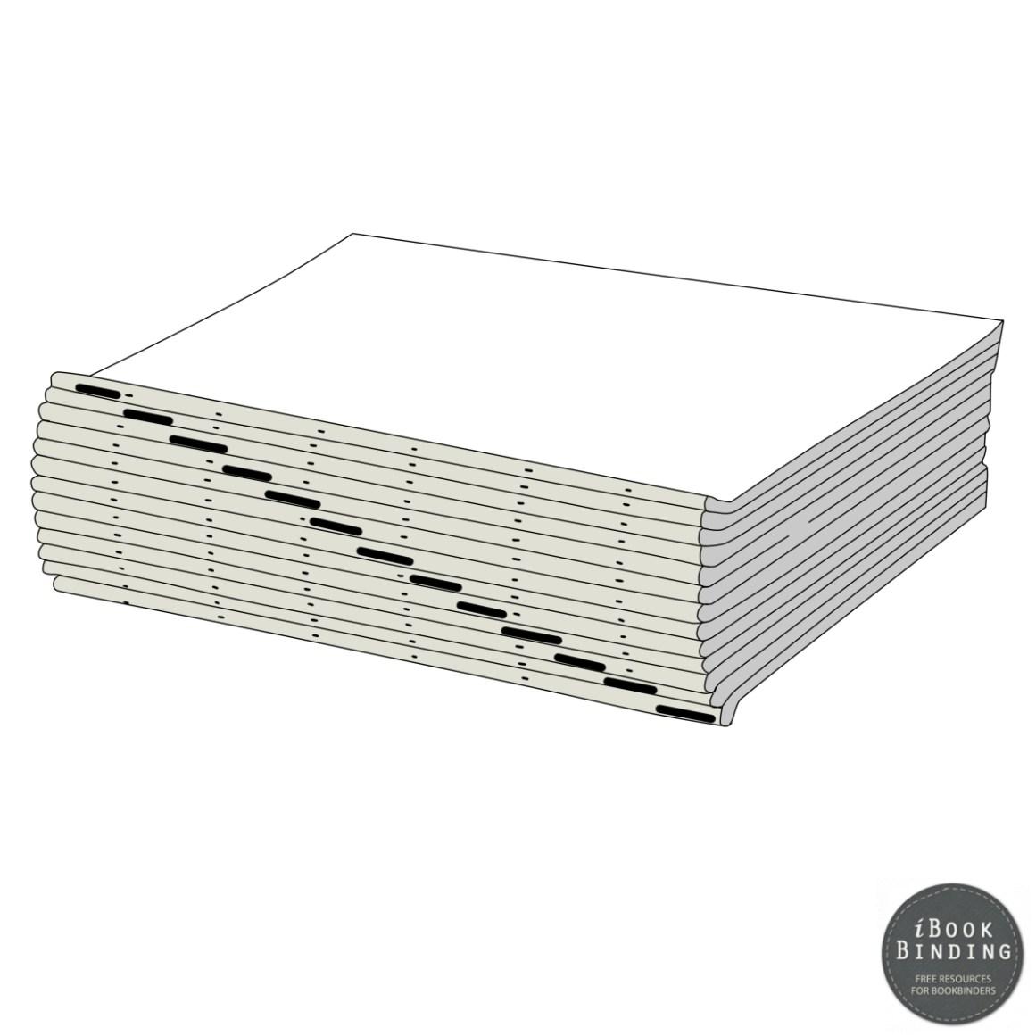 Figure 183 - Marking Back of Folded Signatures to Maintain Correct Order