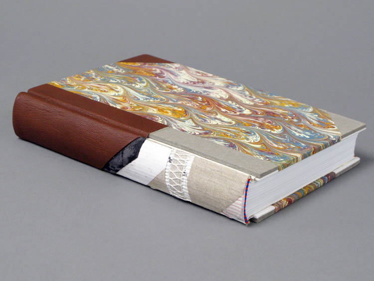 Cut Away of Book Spine Showing Signature Stitching