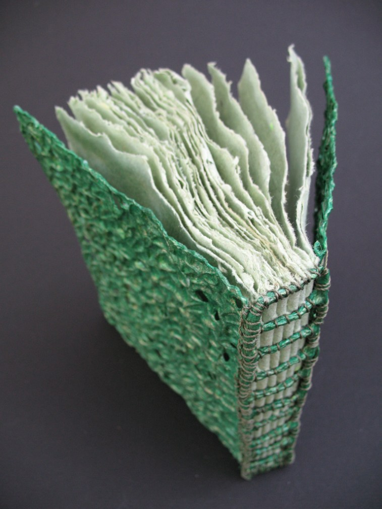 Rough Green Signature Stitching Design by Lizard book by Jennifer Cartright