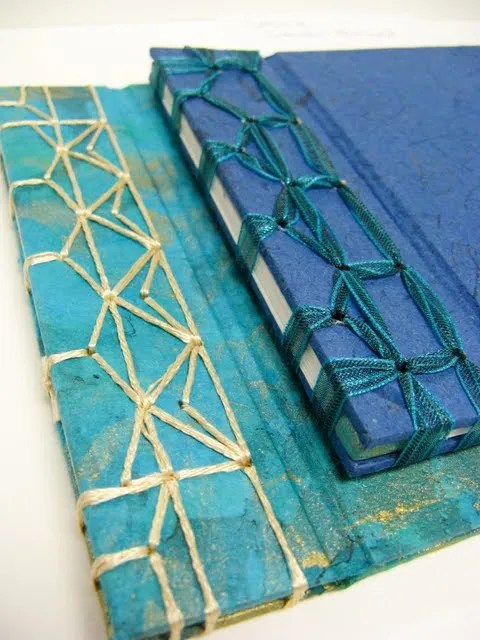Woven Japanese Binding Example with Ribbon