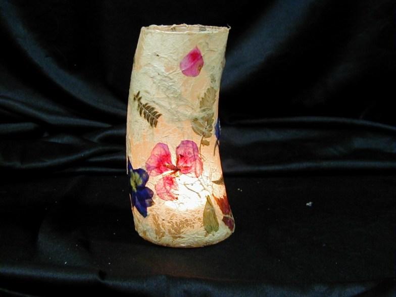 Kozo Paper Tea Light - http://flowerartbyedie.com/available_bowls.htm