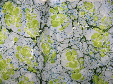 Marbled Paper Marbling Example-08 Photo by Lili's Bookbinding Blog - http://lilbookbinder.wordpress.com/marbled-paper/